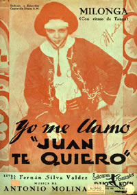 Cover to original sheet music, c. 1934
