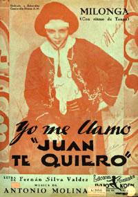 Cover to original sheet music, c. 1934